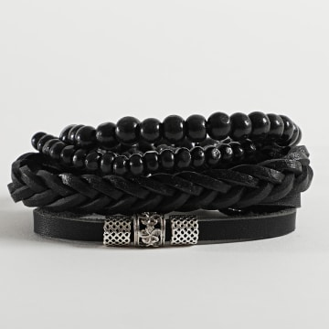 Deeluxe - Bracelet Multi-rangs Authentic Noir