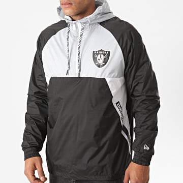 New Era - Veste Outdoor Capuche Ripstop Oakland Raiders 12485600 Noir Gris