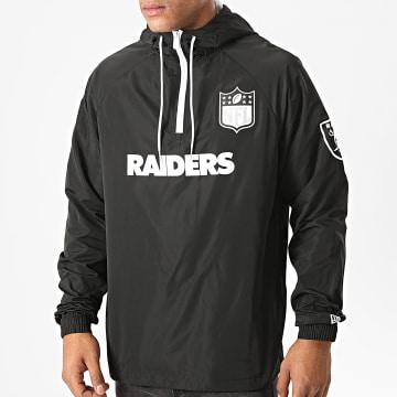 New Era - Coupe-Vent Capuche NFL 1/4 Zip Oakland Raiders 12485613 Noir