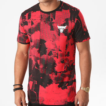 New Era - Tee Shirt NBA All Over Error Print Chicago Bulls 12485700 Rouge Noir