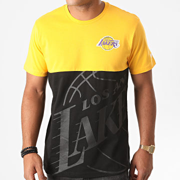 New Era - Tee Shirt NBA Large OTL Los Angeles Lakers 12487534 Jaune Noir