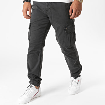 Only And Sons - Pantalon Cargo Aged Life Gris Anthracite