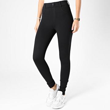 Only - Pantalon Femme Taylor Check Noir
