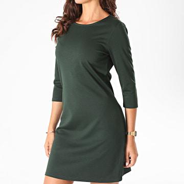 Only - Robe Tee Shirt Femme Brilliant Vert Foncé