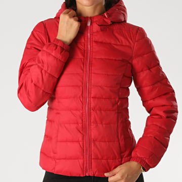 Only - Doudoune Capuche New Tahoe Femme Rouge