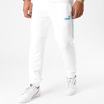 Puma - Pantalon Jogging OM 757856 Blanc
