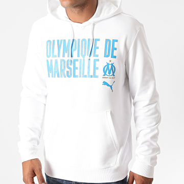 Puma - Sweat Capuche OM Core Wording 757844 Blanc