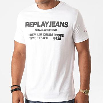 Replay - Tee Shirt M3178-22980P Blanc