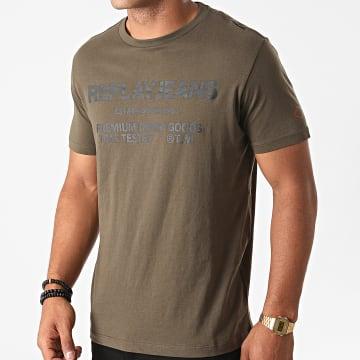 Replay - Tee Shirt M3178-22980P Vert Kaki
