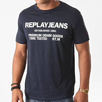 Replay - Tee Shirt M3178-22980P Bleu Marine