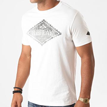 Replay - Tee Shirt M3140-23046P Blanc