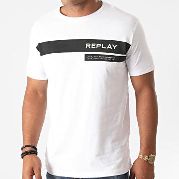 Replay - Tee Shirt M3156-2660 Blanc