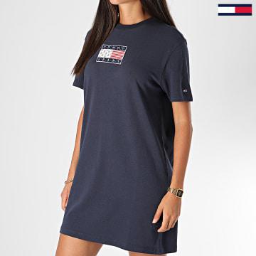 Tommy Jeans - Robe Tee Shirt Femme 8463 Bleu Marine