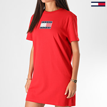 Tommy Jeans - Robe Tee Shirt Femme 8463 Rouge