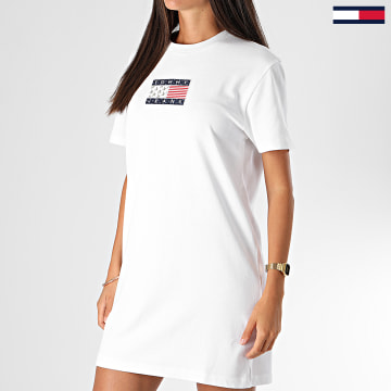 Tommy Jeans - Robe Tee Shirt Femme 8463 Blanc