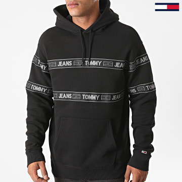 Tommy Jeans - Sweat Capuche Tonal Tape 8410 Noir