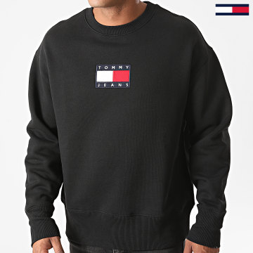 Tommy Jeans - Sweat Crewneck Small Flag 8488 Noir