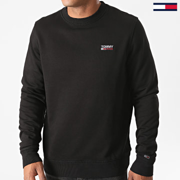 Tommy Jeans - Sweat Crewneck Washed Corp Logo 8413 Noir
