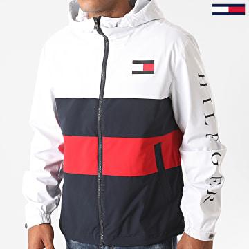 Tommy Hilfiger - Veste Zippée Capuche Colourblock 4554 Blanc Bleu Marine Rouge