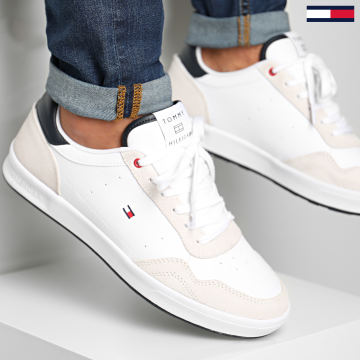 Tommy Hilfiger - Baskets Lightweight Leather Cupsole 2991 White