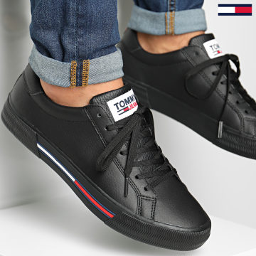 Tommy Jeans - Baskets Essential Leather 0567 Black