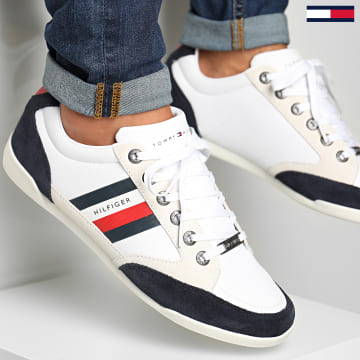 Tommy Hilfiger - Baskets Corporate Material Mix Cupsole 2989 White