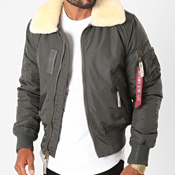 Alpha Industries - Bomber Fourrure Injector III 143104 Gris Anthracite