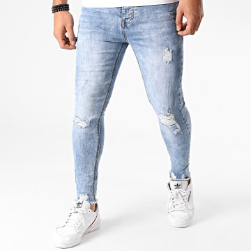 LBO - Jean Super Skinny Fit LB054-AH2 Bleu Wash