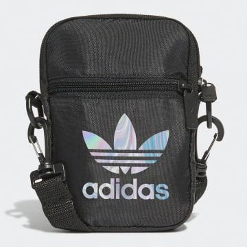 Adidas Originals - Sacoche Festival Trefoil GD4773 Noir Iridescent