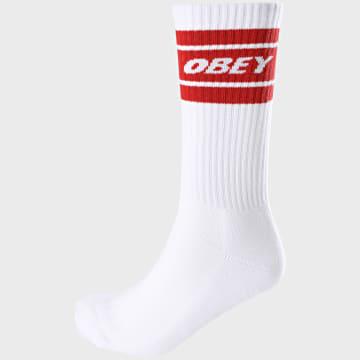 Obey - Paire De Chaussettes Cooper II Blanc Rouge