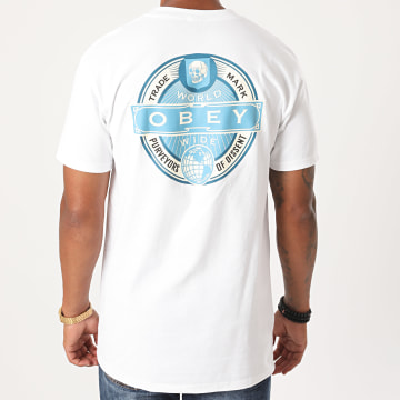 Obey - Tee Shirt Purveyors Of Dissent Blanc