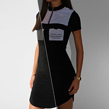 Project X - Robe Femme Réfléchissante F207050 Noir