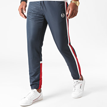 Sergio Tacchini - Pantalon Jogging A Bandes Bulk 38835 Bleu Marine Rouge