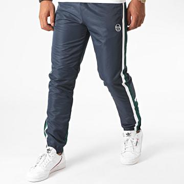 Sergio Tacchini - Pantalon Jogging A Bandes Bulk 38835 Bleu Marine Vert