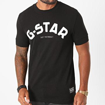 G-Star - Tee Shirt Felt Applique Logo D17654-C336 Noir