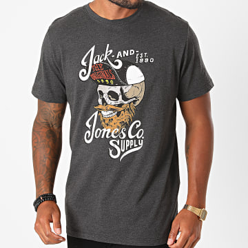 Jack And Jones - Tee Shirt Skulling Gris Anthracite Chiné
