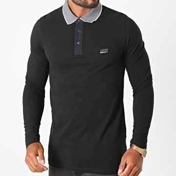 Jack And Jones - Polo Manches Longues Charming Noir