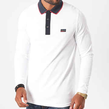 Jack And Jones - Polo Manches Longues Charming Blanc