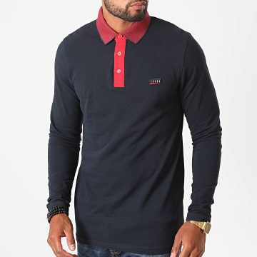Jack And Jones - Polo Manches Longues Charming Bleu Marine