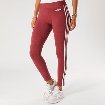 adidas - Legging Femme A Bandes GD4346 Bordeaux Chiné