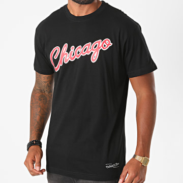 Mitchell and Ness - Tee Shirt Team Wordmark Table Chicago Bulls INTL548 Noir