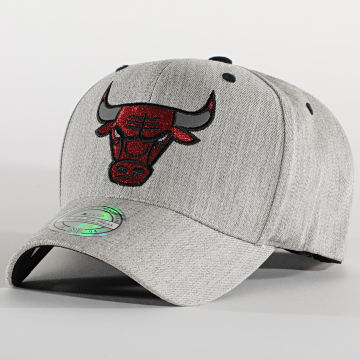 Mitchell and Ness - Casquette 110 Chicago Bulls Gris Chiné