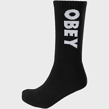 Obey - Paire De Chaussettes Flash Noir