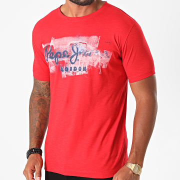 Pepe Jeans - Tee Shirt Golders Rouge Chiné