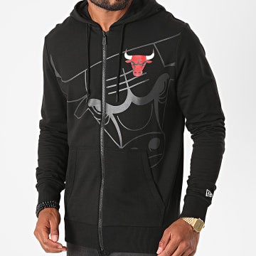 New Era - Sweat Zippé Capuche Chicago Bulls Big Logo 12485691 Noir