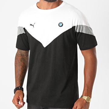 Puma - Tee Shirt BMW Motorsport MCS 597998 Noir Blanc Gris Chiné