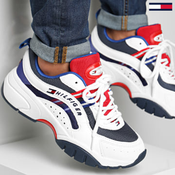 Tommy Jeans - Baskets Heritage Tommy Jeans Runner 0482 White