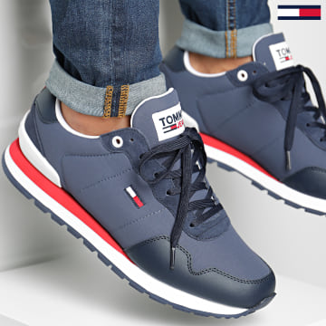 Tommy Jeans - Baskets Tricolore Lifestyle Mix Runner 0578 Twilight Navy