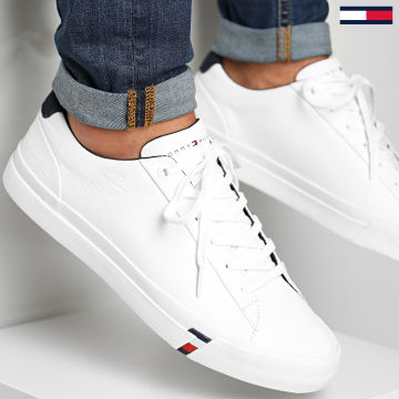 Tommy Hilfiger - Baskets Corporate Leather 2983 White