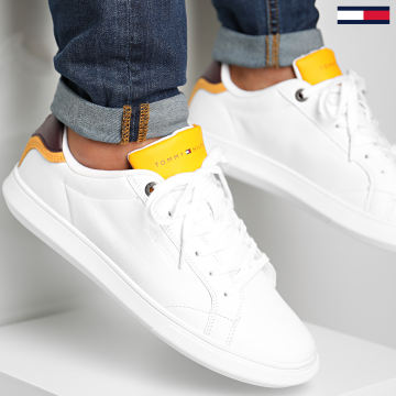 Tommy Hilfiger - Baskets Essential Leather Cupsole Pop 3089 White